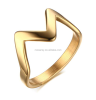 Wholesale Novelty Gold Stainless Steel Crown Shaped Rings For Women