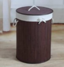 Store More Collapsible Bamboo Round Laundry Hamper