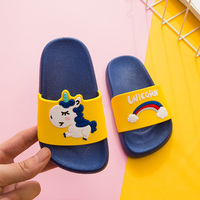 6872T newest cute bright color outdoor high quality 3D unicorn summer home unisex slippers for baby child