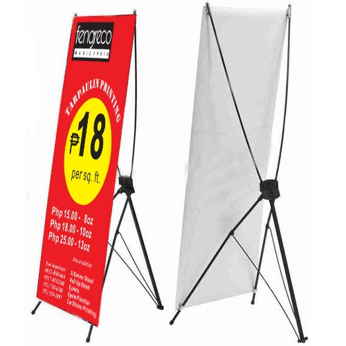 Customized Horizontal Windproof Triangle X Banner display stand for advertising