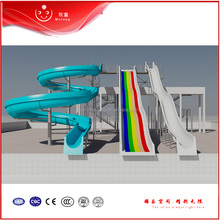 New Hot Water Slide Spiral, Outdoor Water Slide Fiberglass Pool Slide For Sale