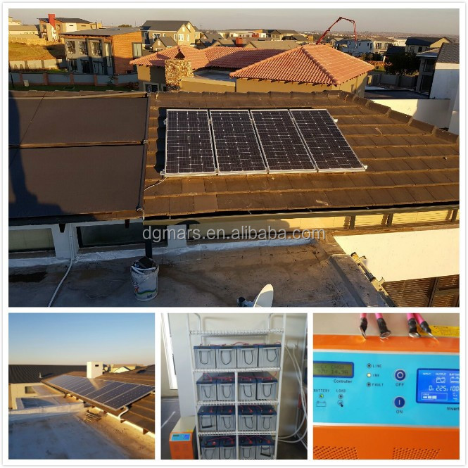 6000W off grid solar electric power system easy installation home solar system 6KW with battery / solar panels for home