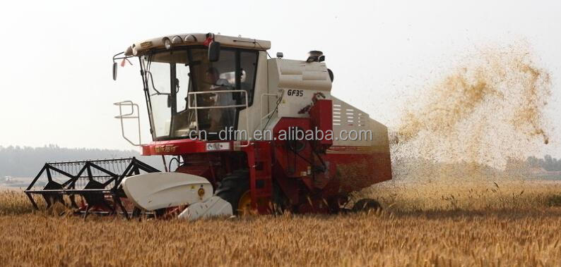 Dongfeng D4110 tractor mounted combine harvester for rice
