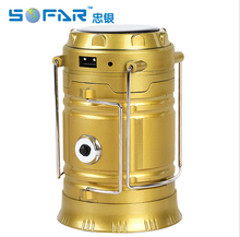 Portable Outdoor Multifunction 6+1 Led Solar Camping Lantern Travel Products Solar bank Led lights