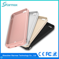 Multiple color options 8200mAh external rechargeable battery case for iphone 6s plus