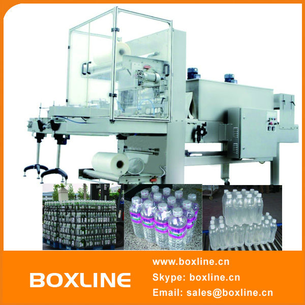 Automatic carpet shrink wrapping machine