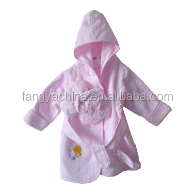 autumn&winter bathrobe for baby cotton terry easy wash Environment Friendly, toddler girl robe