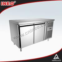 2 Door Stainless steel Commercial Undercounter Refrigerator/Chiller Refrigerator/Under Bar Refrigerator