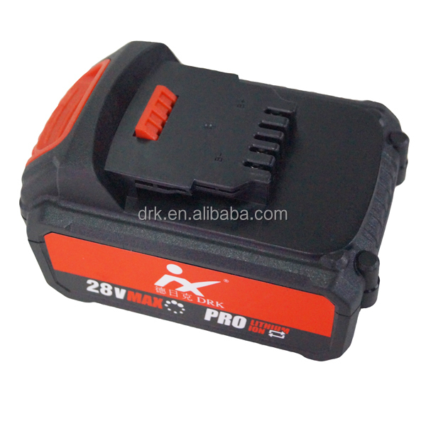 Popular red 28V Li-ion battery cordless wrench combo kit