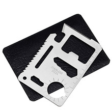 Cmart Factory price custom logo Multi Pocket Tools Stainless Steel Hunting Survival Camping Military Credit Card Knife