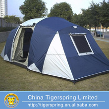Large family camping tent with three rooms