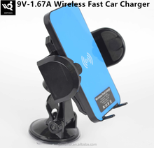 Hot Selling Factory Prices Car QI Wireless Fast Charger for samsung and iphone