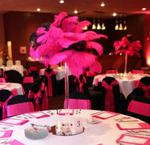 Theme party decoration feather table centerpieces