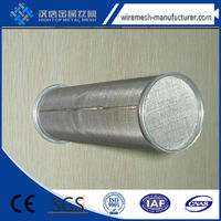 ( Trade Assurance) stainless steel wire mesh cylinder filter for natural gas filtration
