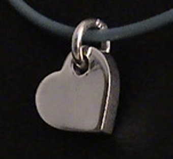 Silver Peruvian Heart shaped Pendant