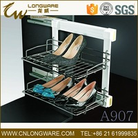 Storage wardrobe closet cabinet parts pull out shoe rack