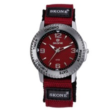 SKONE couple sport watch japan movt quartz watch stainless steel case back
