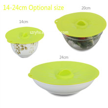 Multi-purposed Kitchen Gadget 3 PC Silicone Lids for Bowl Silicone Pot Cover
