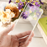 Ultra Thin Slim Crystal Clear Transparent Hard Back Cover Case for iPhone 6 6s
