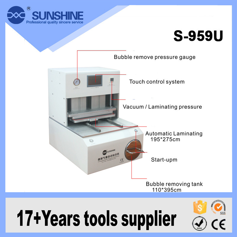 Professional Automatic edge LCD screen oca lamination air bubble removing machine for samsung lcd