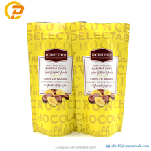 Food grade aluminum foil stand up pouch banana chips packaging