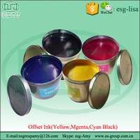 High Glossy Fast Dry Quick Set CMKY Metallic Offset Printing Ink