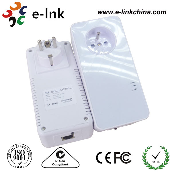 Ethernet 200Mbps Passthrough Homeplug Powerline Adapter