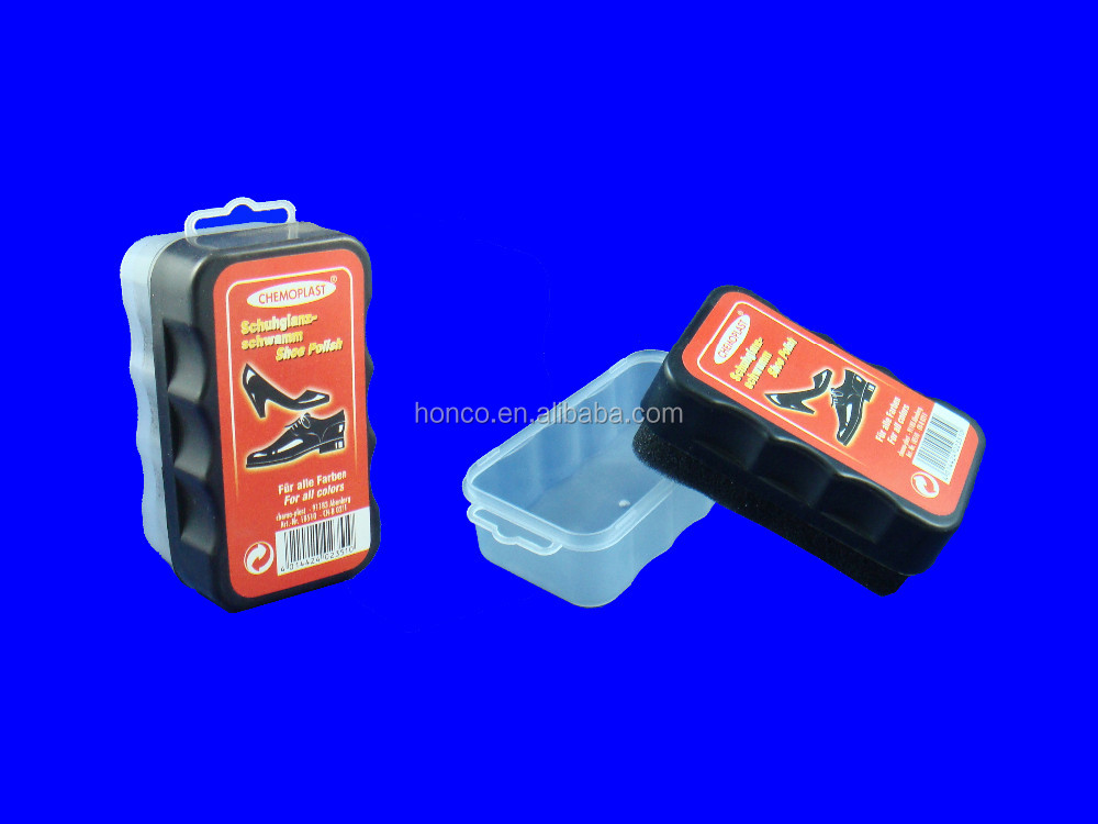 Promotionl shoe shine sponge with liquid