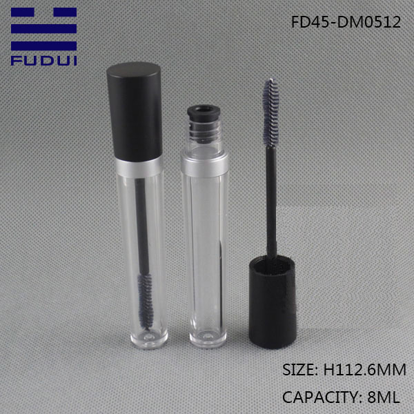 Hot sale 8ml transparent mascara tube bottle container packaging stock for sale