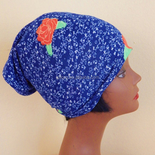 fashion flower custom printed headwraps
