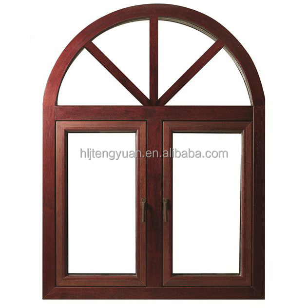 Popular Curved Wooden Window Frames Designs