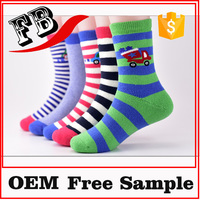 boys 100% cotton socks twill sock decorative children print socks