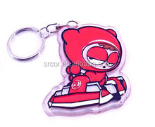 transparent acrylic plastic string keychains