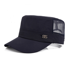 Wholesale adult baseball hat adjustable <strong>flat</strong> trucker mesh cap