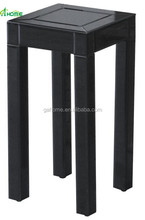 Black Small Mirrored Target Pedestal Table
