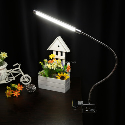 Ultra Bright LED Desk Lamps with USB Port with Clip Two Level Brightness Switch Dimmer Table Lamp