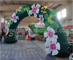 Lovely inflatable flower arch for wedding decoration N4025