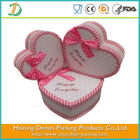 Colorful heart food container with plastic tray delicacy gift