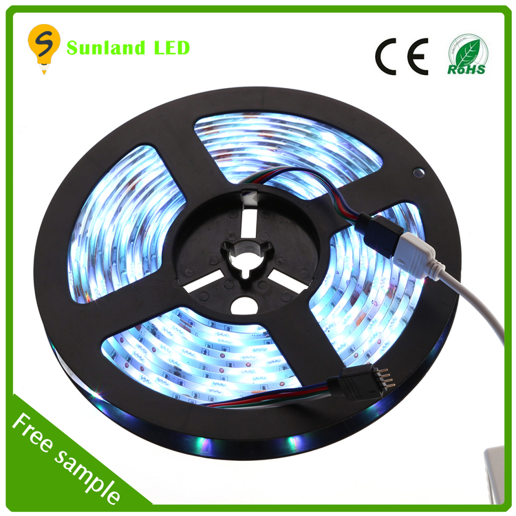 Programmable 5m 36w rgb 50000hours ip65 150led CE ROHS green led strip waterproof