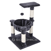 Factory supply grey double cat scratching cat scratcher corrugated cardboard
