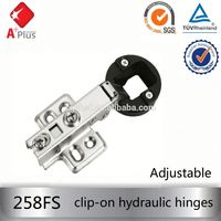 258FS 95 degree fixed hydraulic hinge clip on soft close hinges glass door hinge