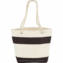 capri stripes shopper tote bag/ extralarge canvas tote bag/ canvas cotton beach bag