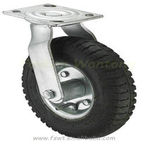 Double Barring Rubber Inflatable Adjustable Casters