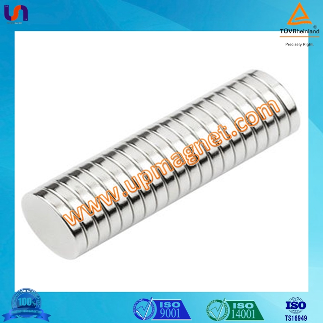 High quality 10x2mm Disc neodymium magnet from china/ cylinder shape n50 neodymium magnet