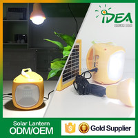 High quality chinese manufacturer good price rechargeable and portable led light solar lantern with bulb