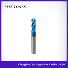 Manufacturer sale sloid carbide cnc machine tools 4 flute coating end mill for steel