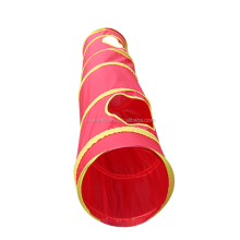 China Supplier Funny Pet Toy Nylon Cloth Red Cat Tunnel