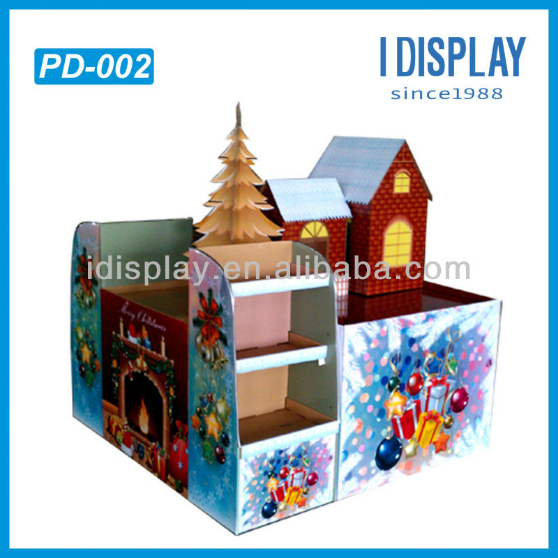 Double sided Chocolate pie Cardboard Floor Display