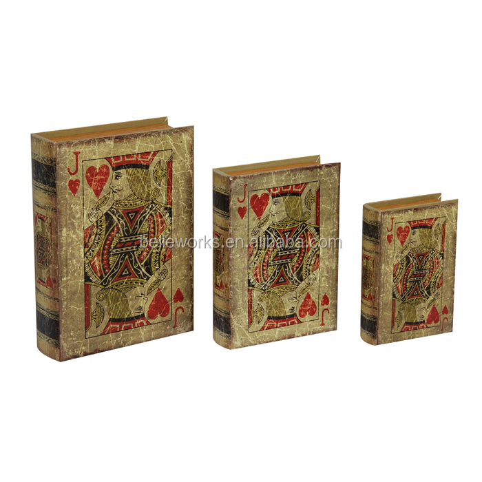 Poker Print Fake Books For Decoration