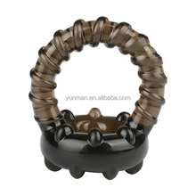 2017 new Soft rubber Time Delay Erection Sex dual Cock Rings for Men Adult Penis Enlargement Rings Thread Sex Toy